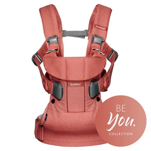 BABYBJORN ONE - nosidełko ergonomiczne, Łososiowy