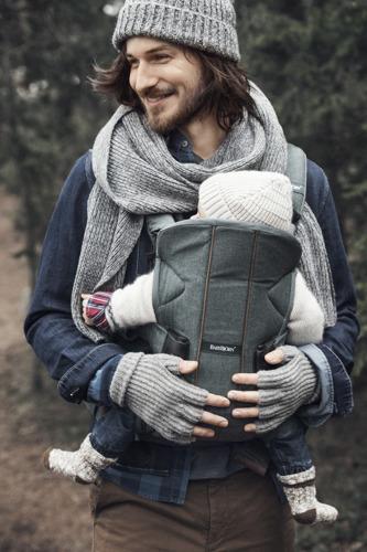 BABYBJORN ONE - nosidełko ergonomiczne, zielony
