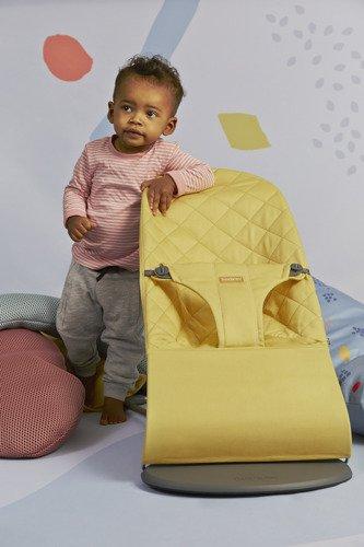 BABYBJORN - leżaczek BLISS COTTON, Żółty