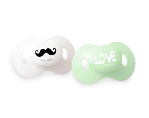 Elodie Details - smoczki Mustache LOVE