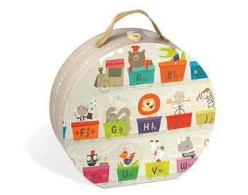 Janod - Puzzle w walizce Alfabet pociąg 27 elementów