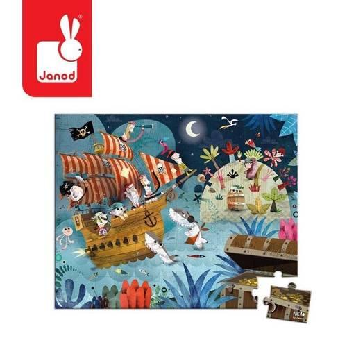 Janod - Puzzle w walizce Piraci 36 elementów