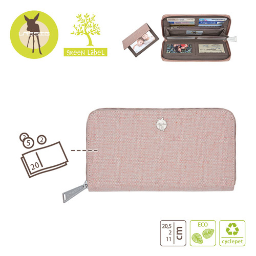 Lassig - Green Label Portfel z etui na karty Mix 'n Match Rose