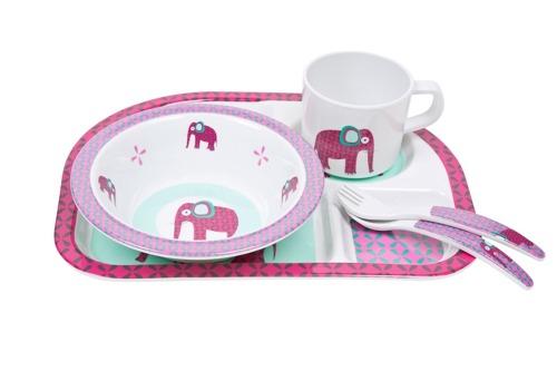 Lassig - Komplet naczyń z melaminy Wildlife Słoń
