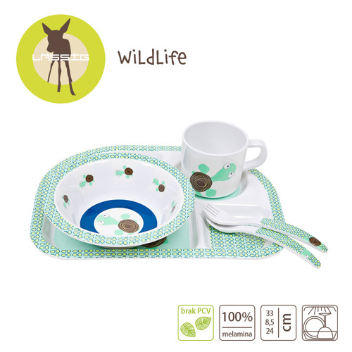Lassig - Komplet naczyń z melaminy Wildlife Żółw