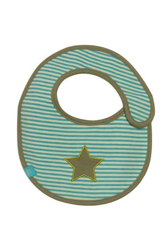 Lassig - Śliniak bawełniany wodoodporny Starlight olive