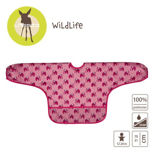 Lassig - Śliniak z długim rękawem 12-24m Wildlife Słoń