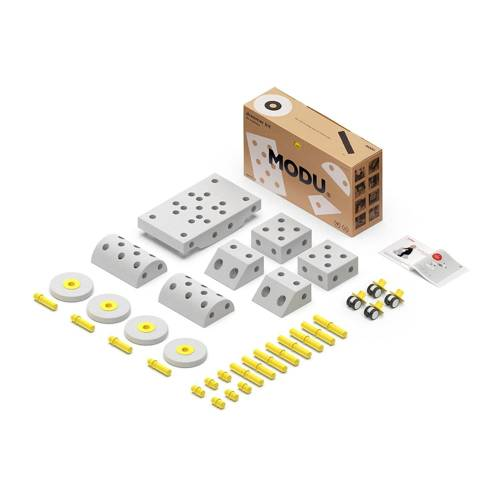 MODU Dreamer kit 12in1 – Kreatywne klocki rozwijające motorykę dużą, żółty