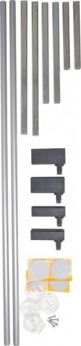 Rozszerzenie bramki BabyDan PREMIER 14 cm, srebrny