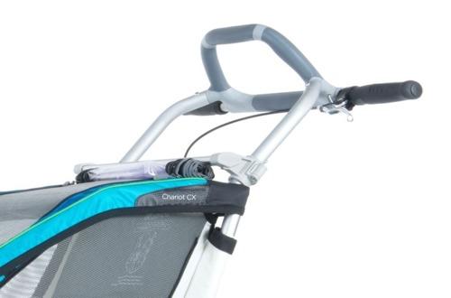 THULE Chariot CX1 niebieski, pojedynczy wózek do biegania + zestaw rowerowy