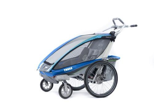 THULE Chariot CX2, podwójna przyczepka rowerowa dla dzieci - niebieska