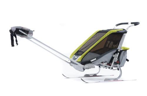 THULE Chariot Cougar 1 zielony, pojedynczy wózek do biegania + zestaw rowerowy