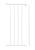 Baby Dan - Rozszerzenie bramek FLEX M, L, XL, XXL - 33cm, biały